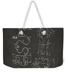 1973 Space Suit Elements Patent Artwork - Gray Weekender Tote Bag