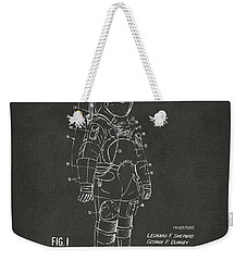 1973 Space Suit Patent Inventors Artwork - Gray Weekender Tote Bag by Nikki Marie Smith