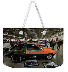 Weekender Tote Bag featuring the photograph 1975 Amc Pacer by Randy Scherkenbach