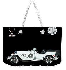 Weekender Tote Bag featuring the mixed media 1976 Excalibur Poster by Jack Pumphrey