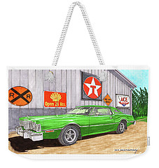 Weekender Tote Bag featuring the painting 1976 Ford Thunderbird by Jack Pumphrey