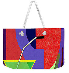 Weekender Tote Bag featuring the digital art 1979 - Party Pop 2017 by Irmgard Schoendorf Welch