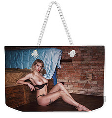 Weekender Tote Bag featuring the photograph 1985 by Traven Milovich