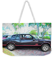 1987 Chevrolet Monte Carlo Ss Coupe C121 Weekender Tote Bag