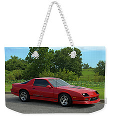 Weekender Tote Bag featuring the photograph 1989 Camaro Iroc by Tim McCullough