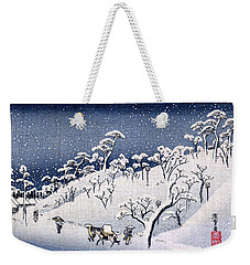 19th C. Snow On Asuka Hill Weekender Tote Bag