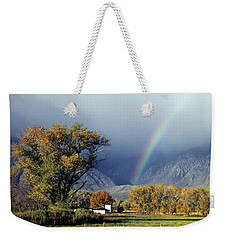 1m6345 Rainbow In Sierras Weekender Tote Bag