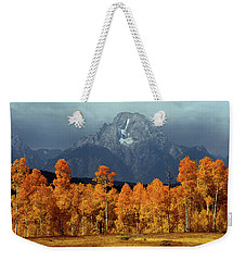 1m9235 Mt. Moran In Autumn Weekender Tote Bag