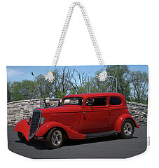 1934 Ford Sedan Hot Rod Weekender Tote Bag
