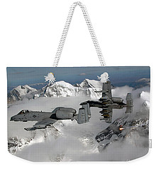 A-10 Thunderbolt IIs Fly Weekender Tote Bag