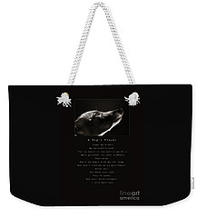 A Dog's Prayer  A Popular Inspirational Portrait And Poem Featuring An Italian Greyhound Rescue Weekender Tote Bag