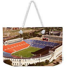 Aerial View Of A Stadium, Soldier Weekender Tote Bag by Panoramic Images