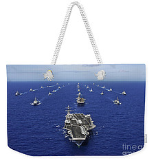 Aircraft Carrier Uss Ronald Reagan Weekender Tote Bag