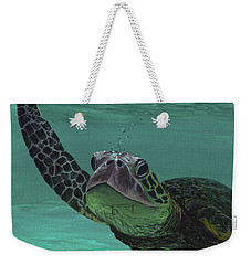 Weekender Tote Bag featuring the painting Aloha From Maui by Darice Machel McGuire