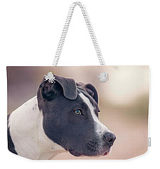 Weekender Tote Bag featuring the photograph American Pitbull Terrier by Peter Lakomy