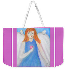 Weekender Tote Bag featuring the photograph Angel Of My Heart by Shirley Moravec