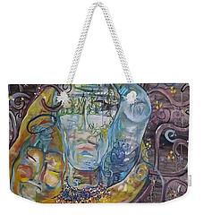 2 Angels Hugging Environmental Warrior Goddess Weekender Tote Bag by Carol Rashawnna Williams