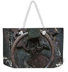 Weekender Tote Bag featuring the photograph Antique Door Knocker by Elena Elisseeva