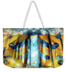 Weekender Tote Bag featuring the photograph Architectural Abstract by Wayne Sherriff