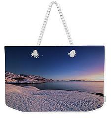 Arctic Sunset Weekender Tote Bag