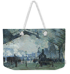 Arrival Of The Normandy Train Gare Saint-lazare Weekender Tote Bag by Claude Monet