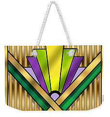 Art Deco 14 Transparent Weekender Tote Bag