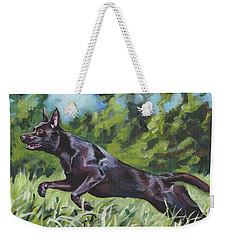 Australian Kelpie Weekender Tote Bag by Lee Ann Shepard
