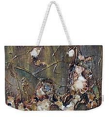 Weekender Tote Bag featuring the painting Autumn Leaves by Joanne Smoley