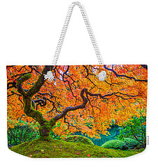 Weekender Tote Bag featuring the photograph Autumn's Jewel by Patricia Davidson