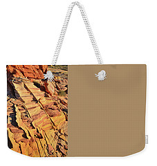 Weekender Tote Bag featuring the photograph Bands Of Color In Valley Of Fire by Ray Mathis
