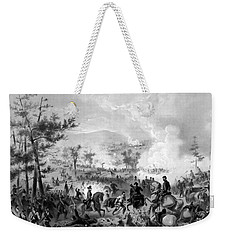 Weekender Tote Bag featuring the drawing Battle Of Gettysburg by War Is Hell Store
