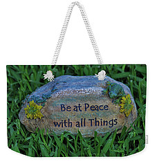 Weekender Tote Bag featuring the photograph 2- Be At Peace by Joseph Keane