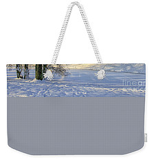 Beautiful Park In Winter With Snow Weekender Tote Bag