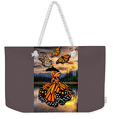 Weekender Tote Bag featuring the mixed media Believe by Marvin Blaine