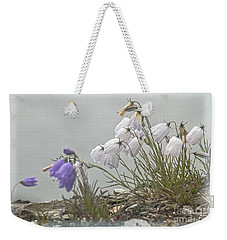 Weekender Tote Bag featuring the photograph Bellflower by Heiko Koehrer-Wagner