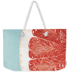 Blood Orange Slice Macro Details Weekender Tote Bag by Radu Bercan