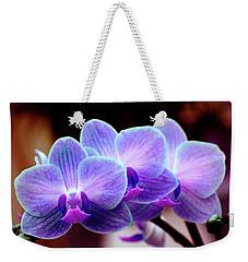 Blue Orchids Weekender Tote Bag