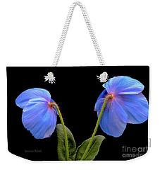 Blue Poppies Weekender Tote Bag by Jeannie Rhode