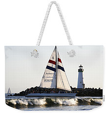 2 Boats Approach Weekender Tote Bag by Marilyn Hunt