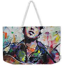 Bob Dylan Weekender Tote Bag by Richard Day