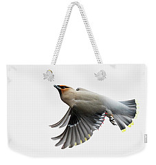 Weekender Tote Bag featuring the photograph Bohemian Waxwing  by Mircea Costina Photography