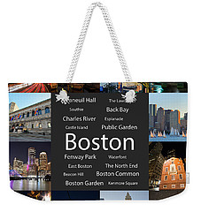 Boston Ma Collage Weekender Tote Bag