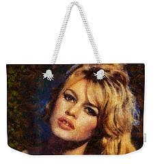 Brigitte Bardot Hollywood Actress Weekender Tote Bag