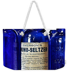 Bromo Seltzer Vintage Glass Bottles Collection Weekender Tote Bag