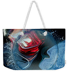 Weekender Tote Bag featuring the photograph Upheaval by Kathie Chicoine