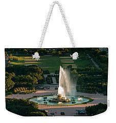 Buckingham Fountain Chicago Weekender Tote Bag by Steve Gadomski