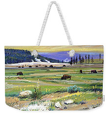 Buffaloes In Yellowstone Weekender Tote Bag