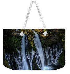 Weekender Tote Bag featuring the photograph Burney Falls by Kelly Wade