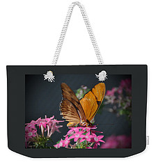 Weekender Tote Bag featuring the photograph Butterfly by Savannah Gibbs