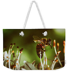 Weekender Tote Bag featuring the photograph Bzzz by Michael Siebert